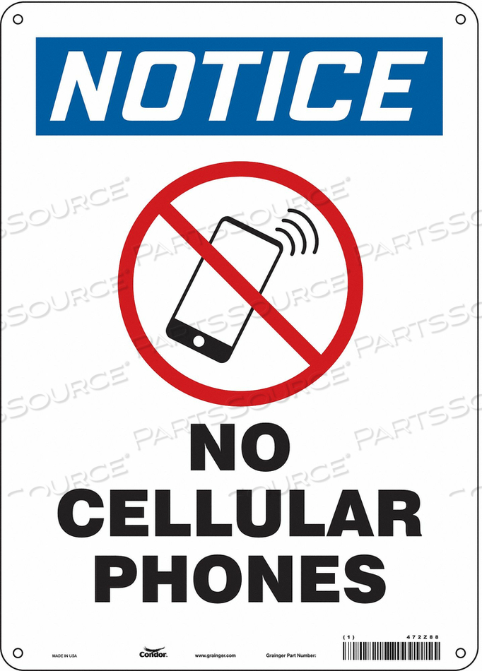 SAFETY SIGN 10 W 14 H 0.055 THICKNESS by Condor