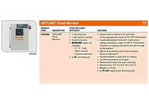 O-RING KIT FOR HOTLINE FLUID WARMER by Smiths Medical
