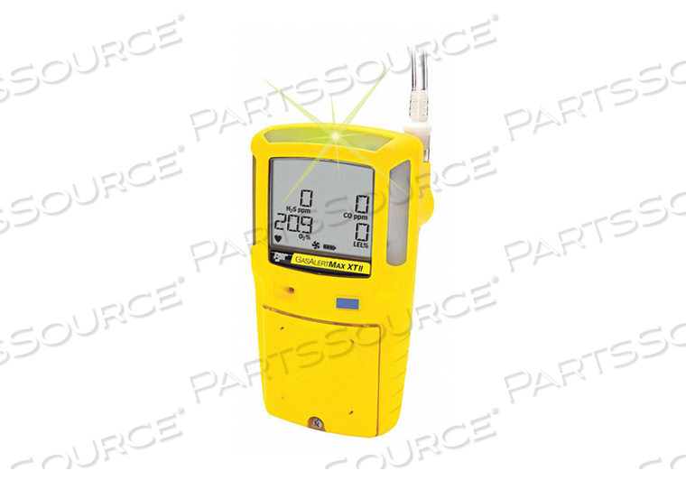 SINGLE GAS DETECTOR H2S 0-200 PPM NA YLW by BW Technologies