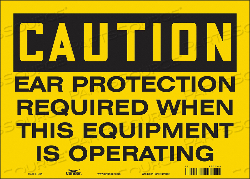 K0276 SAFETY SIGN 14 W 10 H 0.004 THICKNESS by Condor