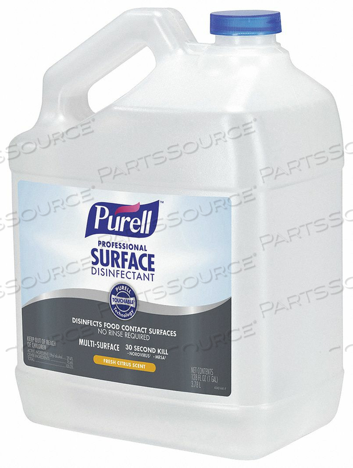 LIQUID DISINFECTANT 1 GAL.BOTTLE PK4 by Purell