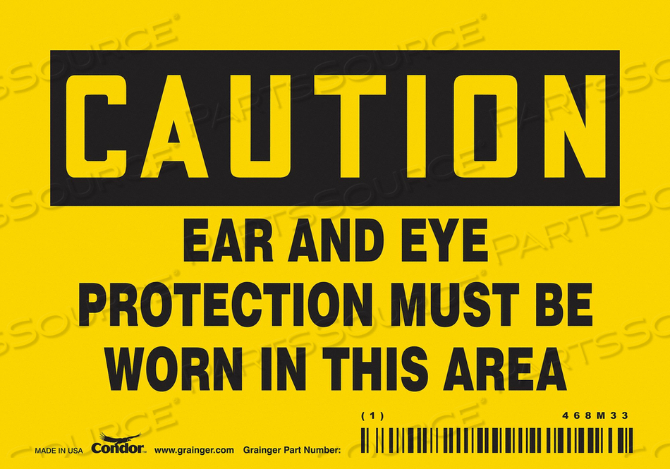 SAFETY SIGN 5 WX3-1/2 H 0.004 THICK by Condor
