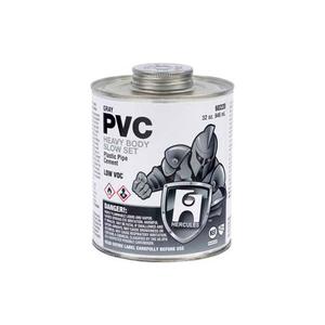 HERCULES PVC - GRAY, HEAVY BODY, SLOW SET CEMENT - DAUBER IN CAP 8 OZ. by Oatey
