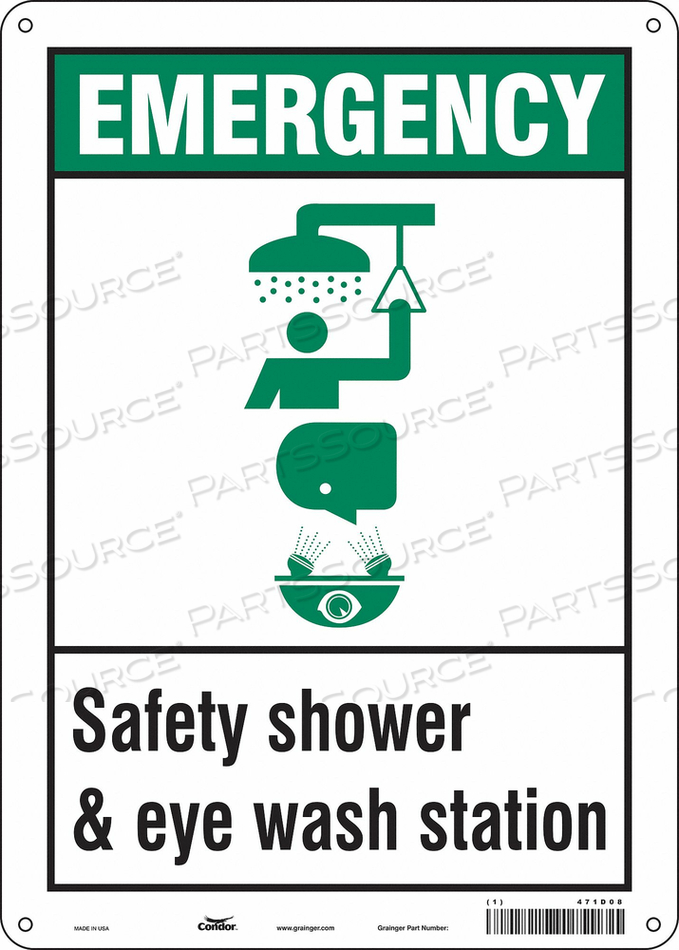 SAFETY SIGN 10 W X 14 H 0.032 THICK by Condor
