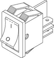 POWER SWITCH, 16 A, 125 TO 250 VAC, DPST CONTACT, 3/16 IN TAB, 2 POLES, PANEL MOUNTING, 3/4 HP by SciCan USA (Medical Division)