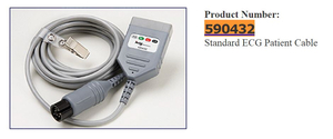 7000 SERIES ECG PATIENT CABLE, LN, 4 LEAD, AHA, 10' by Ivy Biomedical