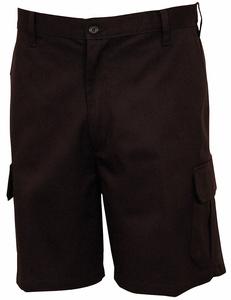 MEN'S CARGO SHORTS 32 BLACK by Fashion Seal