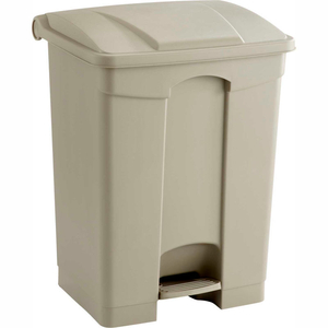 PLASTIC STEP-ON RECEPTACLE, 17 GALLON BEIGE by Safco