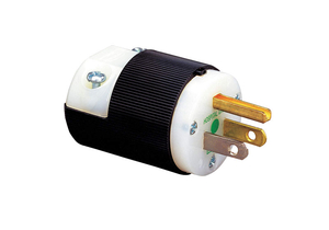 HOSPITAL GRADE MALE PLUG, 0.23 TO 0.72 IN CORD DIA, MALE, NYLON, BLACK, WHITE, 125 VAC, 15 A by Hubbell Power Systems