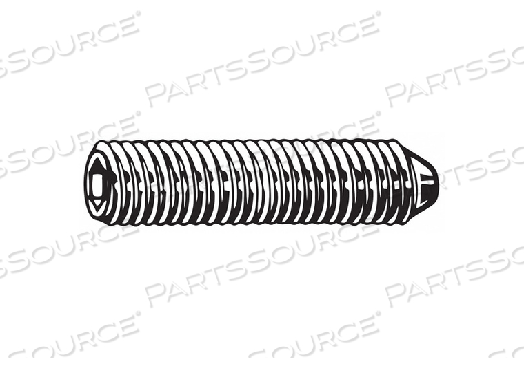 SET SCREW CONE 10MM L PLAIN PK10600 by Fabory