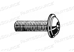 SHCS BUTTON FLANGED M5-0.80X20MM PK2800 by Fabory