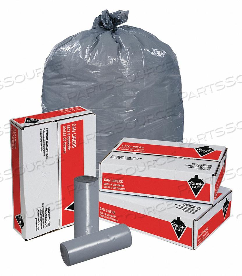 TRASH BAGS 60 GAL. GRAY PK100 by Tough Guy