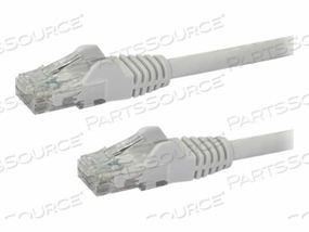 STARTECH.COM 6IN WHITE CAT6 / CAT 6 SNAGLESS ETHERNET PATCH CABLE 6 INCH - PATCH CABLE - RJ-45 (M) TO RJ-45 (M) - 6 IN - UTP - CAT 6 - MOLDED, SNAGLESS - WHITE by StarTech.com Ltd.