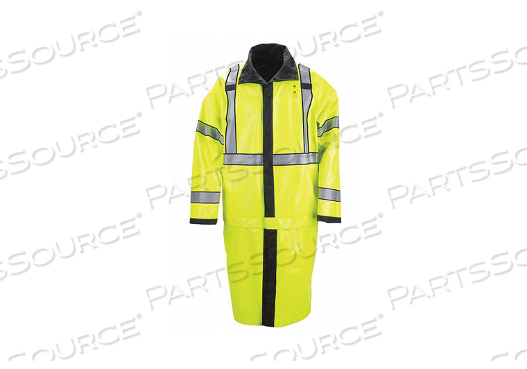 H0237 RAIN COAT CLASS 3 TYPE R BLACK/YELLOW S by 5.11 Tactical