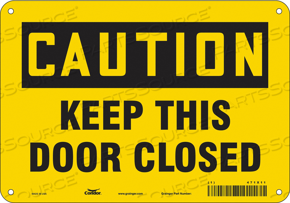 SAFETY SIGN 10 W X 7 H 0.055 THICK by Condor