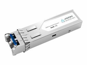 AXIOM GLC-FE-100FX-RGD-AX - SFP (MINI-GBIC) TRANSCEIVER MODULE (EQUIVALENT TO: CISCO GLC-FE-100FX-RGD=) - 100MB LAN - 100BASE-FX - LC SINGLE-MODE - UP TO 1.2 MILES - 1310 NM - FOR P/N: ASR-920-12SZ-IM, IE-4010-16S12P, IE-4010-4S24P, IE-5000-12S12P-10G, IE-5000-16S12P by Axiom