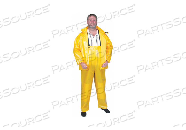 D2294 RAIN BIB OVERALL UNRATED YELLOW 2XL by Condor