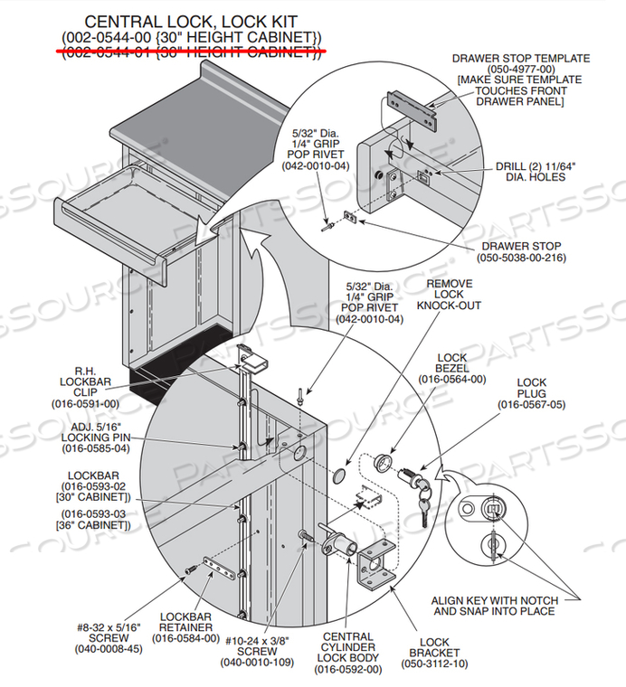 CENTRAL LOCK SYSTEM 30 HEIGHT by Midmark Corp.