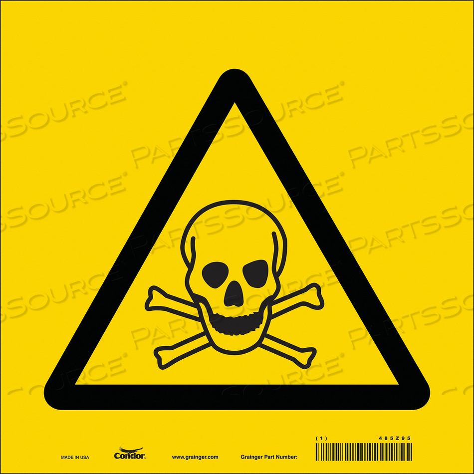CHEMICAL SIGN 10 W 10 H 0.004 THICKNESS by Condor