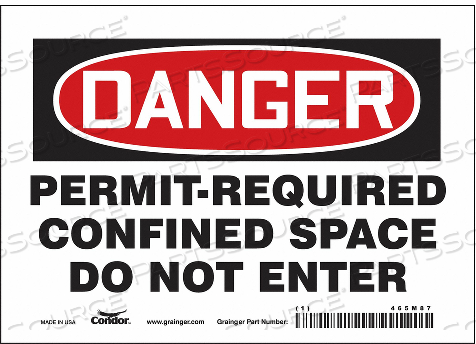 J6941 SAFETY SIGN 5 H 7 W VINYL by Condor