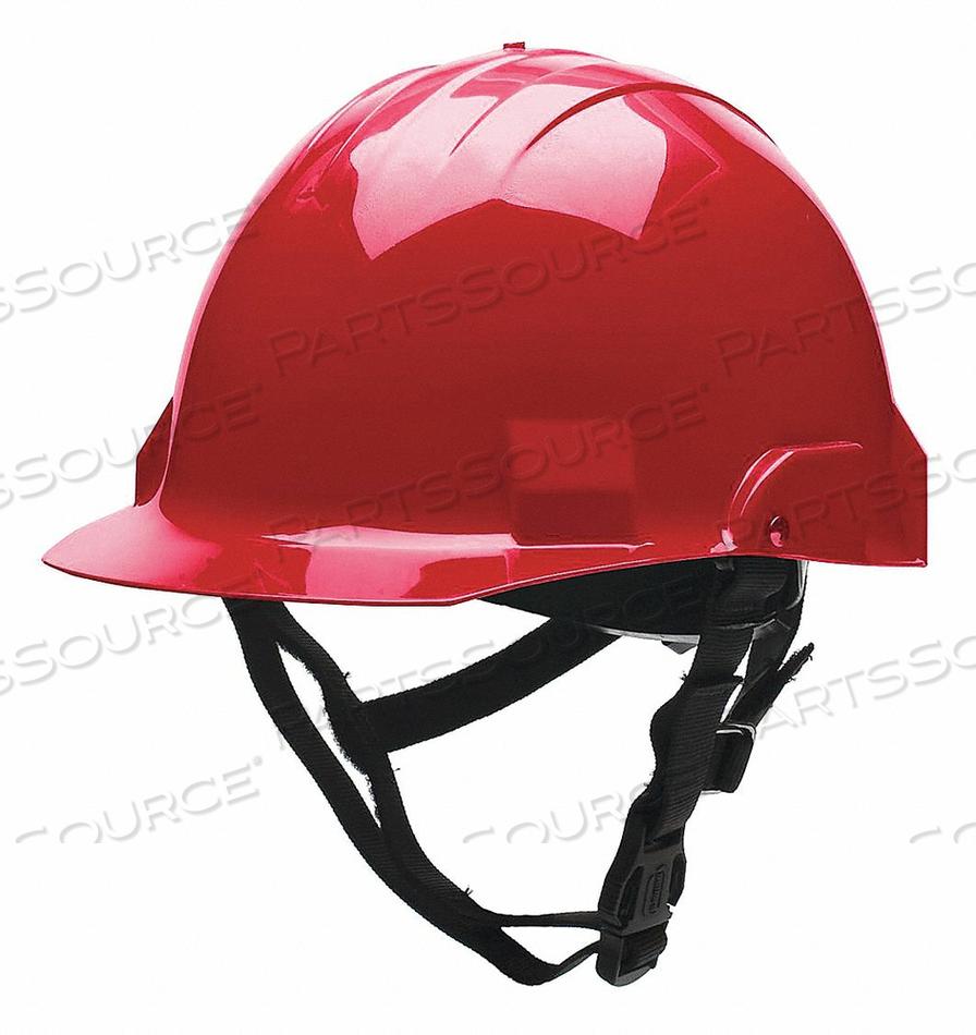 FIRE/RESCUE HELMET THERMOPLSTC SHELL RED by Bullard