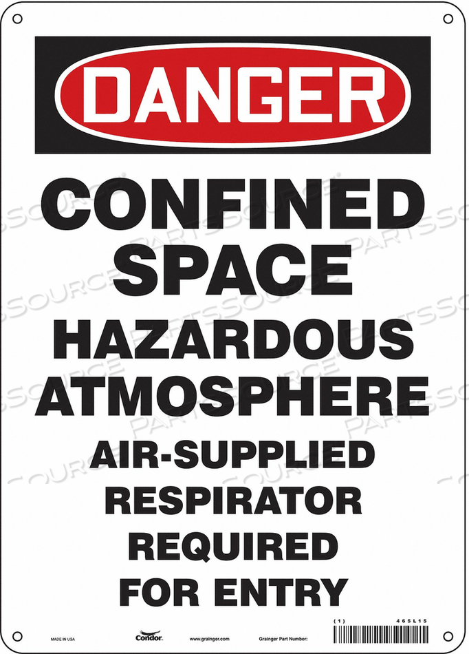 SAFETY SIGN 14 H 10 W FIBERGLASS by Condor