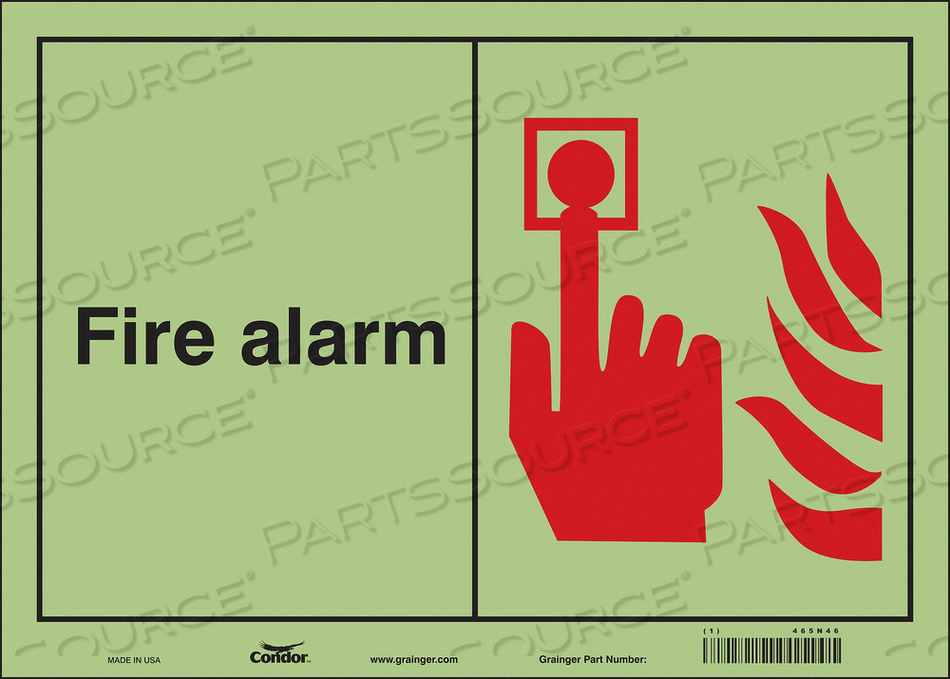 SAFETY SIGN 14 WX10 H 0.070 THICKNESS by Condor