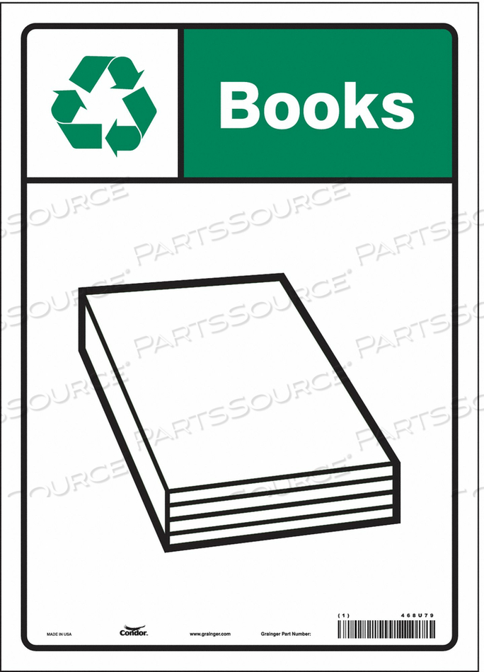 SAFETY SIGN 10 WX14 H 0.004 THICKNESS by Condor