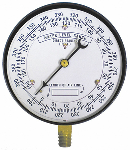 WELL WATER LEVEL GAUGE 0 TO 390 FT. by Duro