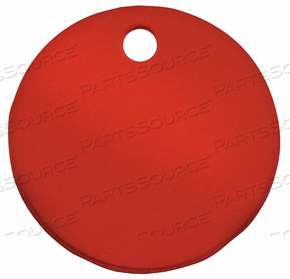 BLANK TAG ROUND RED PK5 by C.H. Hanson