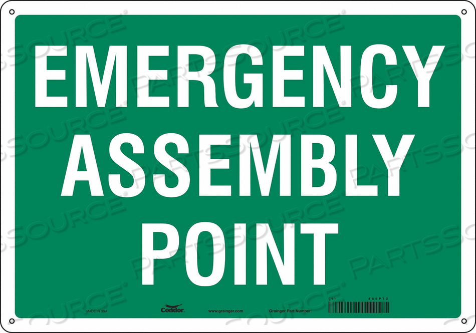 SAFETY SIGN 20 WX14 H 0.055 THICKNESS by Condor
