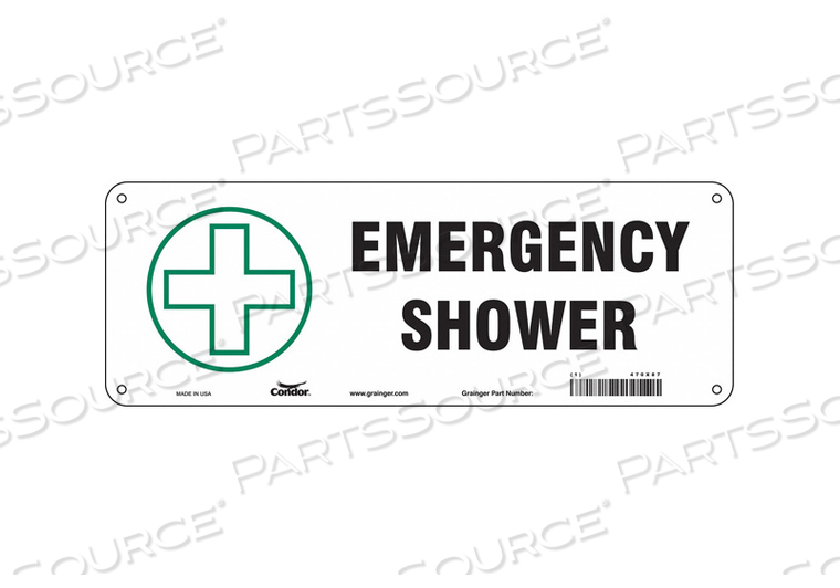 SAFETY SIGN 14 W X 5 H 0.032 THICK by Condor