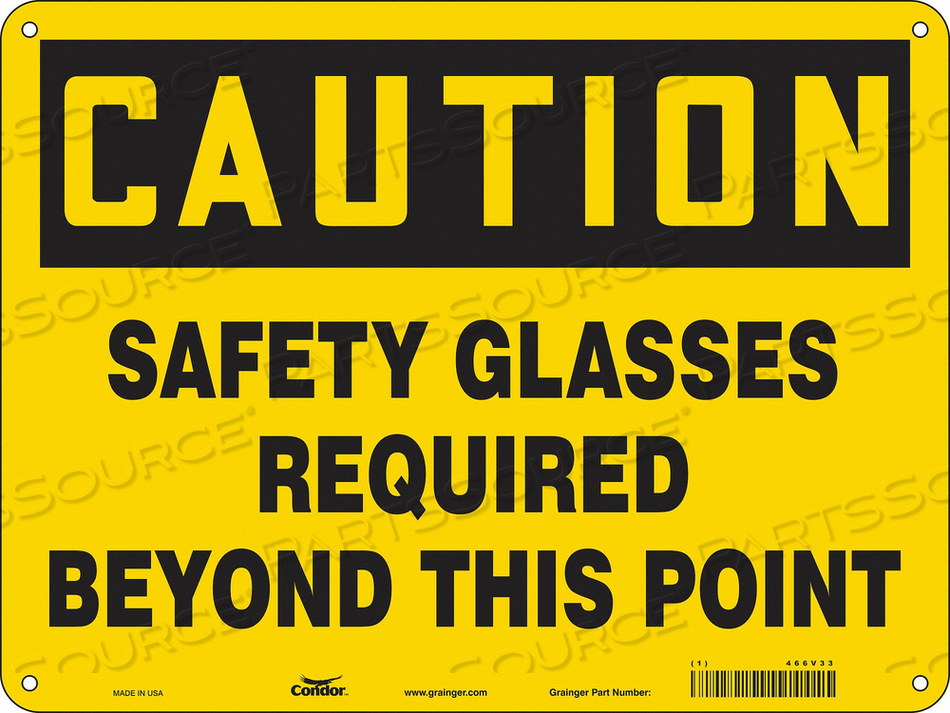 SAFETY SIGN 24 W 18 H 0.032 THICKNESS by Condor