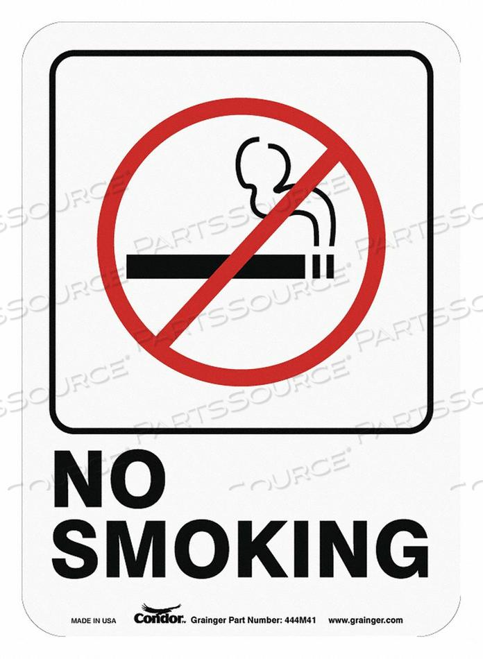 NO SMOKING SIGN 7 H 5 W PLASTIC by Condor