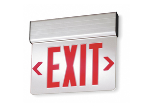 EDGE-LIT EXIT SIGN 2.8W RED 1 FACE by Lithonia Lighting