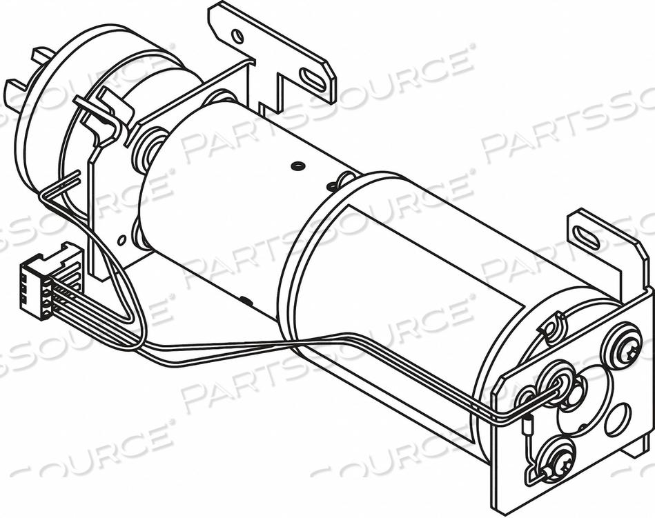 MOTOR CLUTCH ASSEMBLY ALUM 11-1/2 IN L by LCN