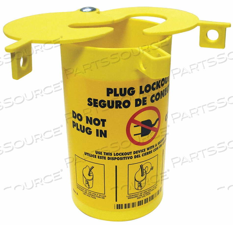 PLUG LOCKOUT YELLOW 3-1/2 H 6-1/4 L by Condor
