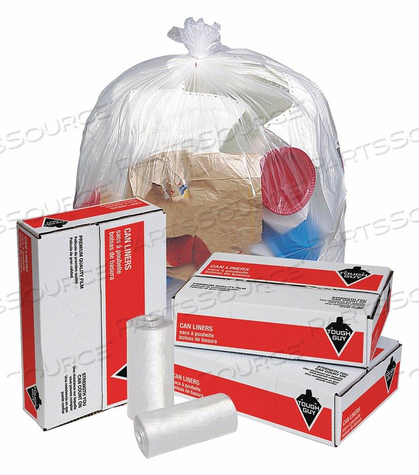 TRASH BAGS 55 GAL. CLEAR PK200 by Tough Guy