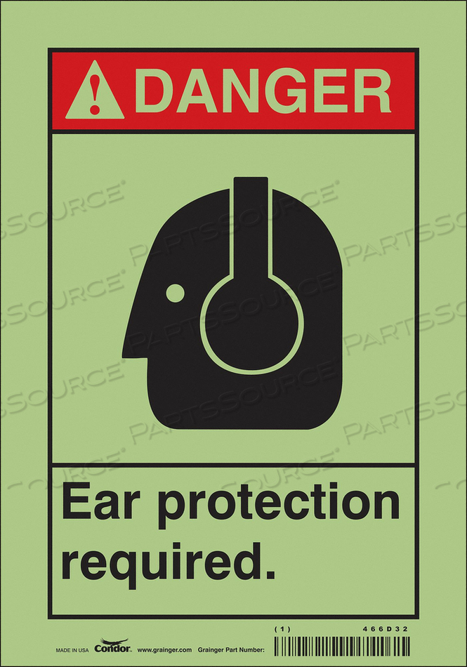 SAFETY SIGN 7 W 10 H 0.010 THICKNESS by Condor