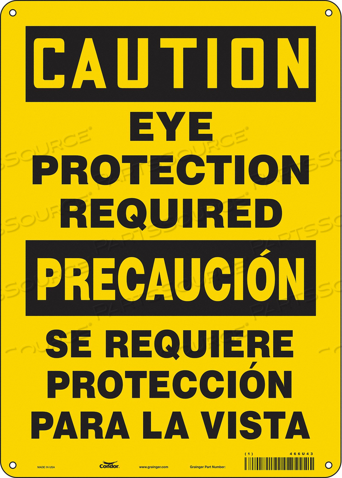 K2001 SAFETY SIGN 10 W 14 H 0.055 THICKNESS by Condor