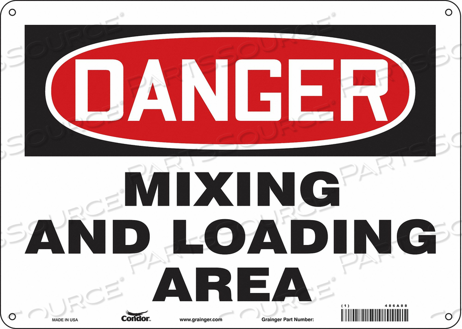 CHEMICAL SIGN 14 W 10 H 0.032 THICKNESS by Condor