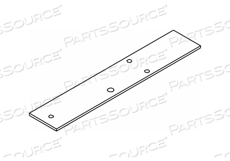 COVER PLATE SILVER ALUMINUM 2 IN L by LCN