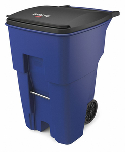 TRASH CAN 95 GAL. BLUE PLASTIC by Rubbermaid Medical Division