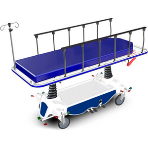 """HYDRAULIC TRANSPORT STRETCHER NK8002, 4"""" MATTRESS, 8"""" LOCKING CASTERS by NK Products (Formerly I-Rep Therapy Products)"""