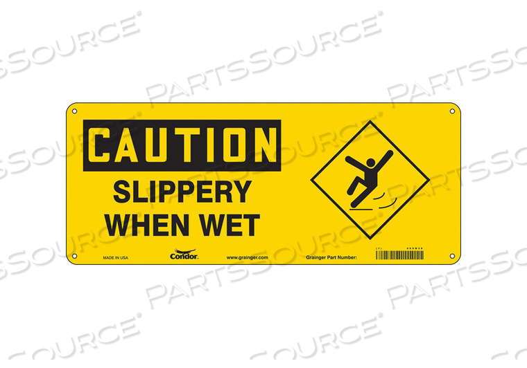 SAFETY SIGN 17 W 7 H 0.055 THICKNESS by Condor