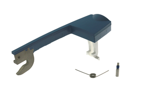 LATCH ASSEMBLY, BLUE WITH DOOR LATCH, PIN, SEAR, SETSCREW, LATCH SPRING, SEAR SPRING, SPRING & LATCH PIVOT SCREW, BOTTOM LATCH by CareFusion Alaris / 303