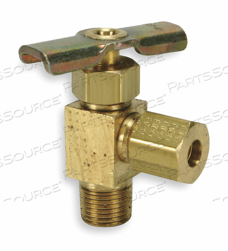 NEEDLE VALVE ANGLED BRASS 1/4 X 3/8 IN. by Eaton