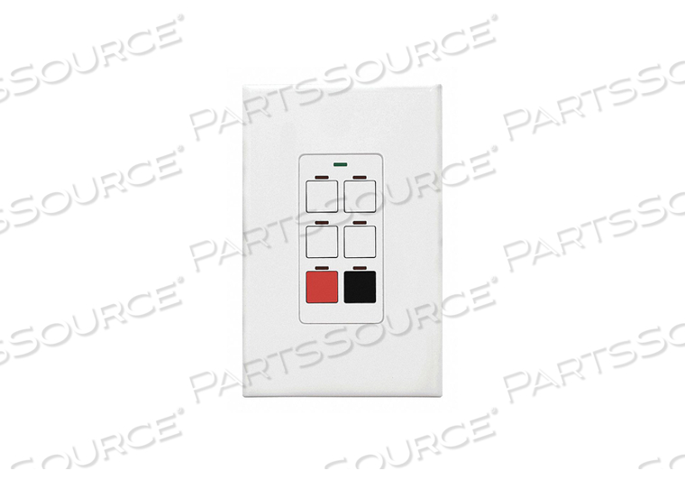 DIGITAL WALL SWITCH WHITE 6 BUTTON by Lithonia Lighting