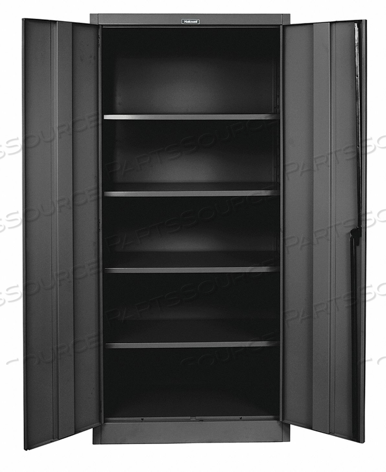 H2196 SHELVING CABINET 72 H 48 W BLACK by Hallowell