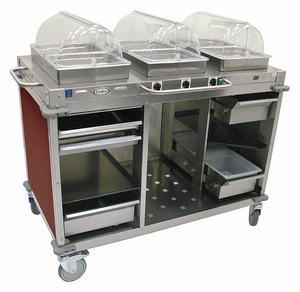 BUFFET CART HOT CHERRY STAINLESS STEEL by Cadco